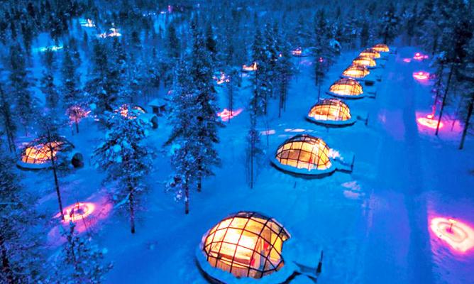Escapade romantique en Laponie.
