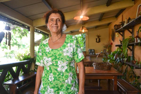 Majo, la pétillante propriétaire de La table Créole