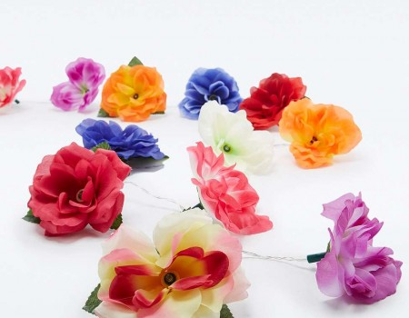 Guirlande de fleurs lumineuses
