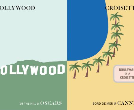 Festival de Cannes vs Cérémonie des Oscars : l'infographie qui se la joue star