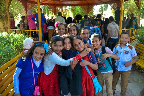 Rencontre avec les jeunes égyptiens au Jardin botanique de Kitchiner