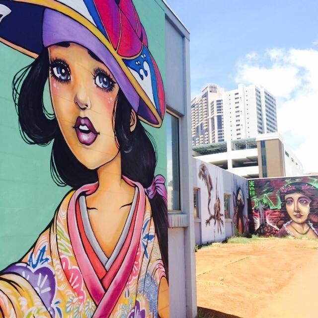 Street Art dans le quartier de Kakaako